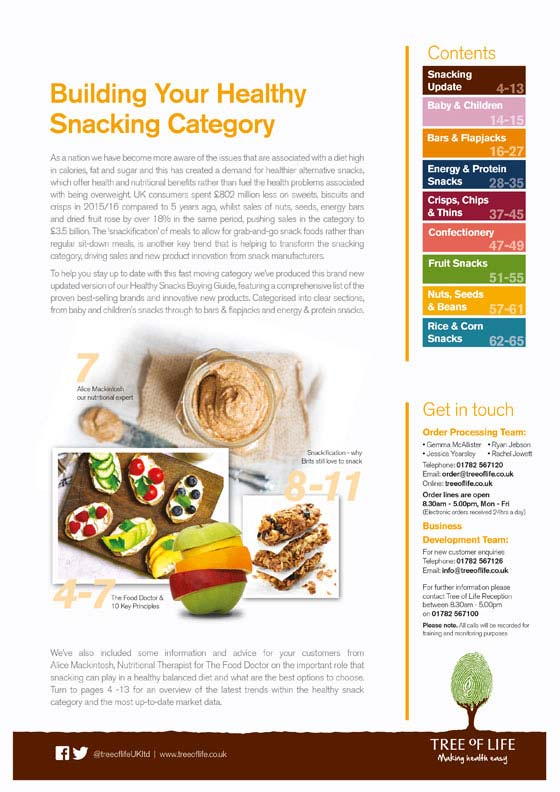 Healthy Snacking Buying Guide V2 Contents