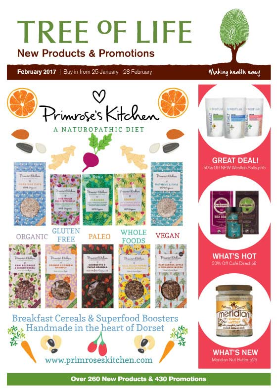 February New Products & Promotions Contents Page